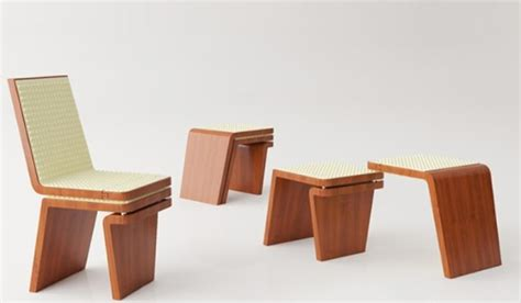 transformable furniture comfortable chair of organic materials