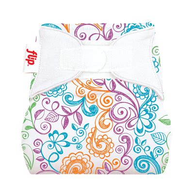 Flip Individual Pack Stay Insert Hook Loop Dazzle flip day pack 2 one size cloth covers and 6 stay organic inserts