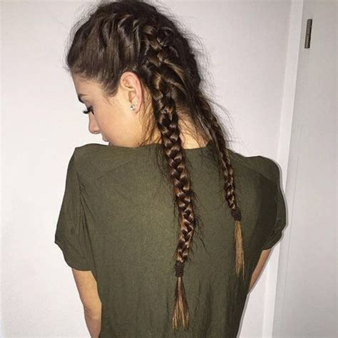 fashion icon plaited hair braids brown fashion girls hair image 4010776 by