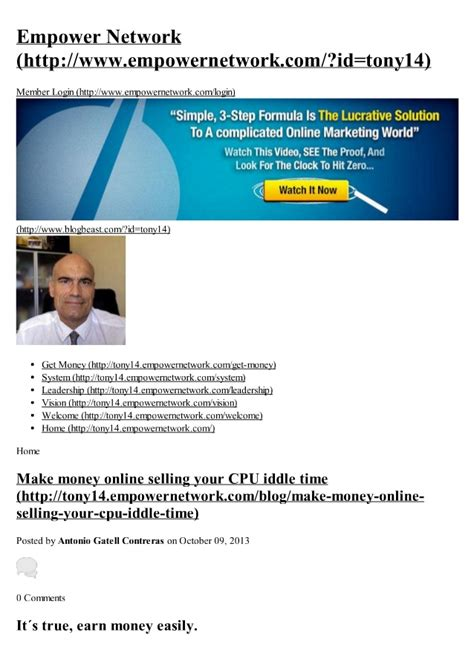 Make Money Online Selling - make money online selling your cpu iddle time