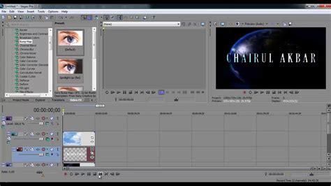 tutorial membuat video dengan sony vegas tutorial membuat text dan background bergerak sony vegas