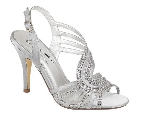 silver strappy evening sandals womens strappy silver satin evening sandals wedding