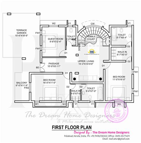 kerala home design first floor plan house plan with elevation kerala home design and floor plans