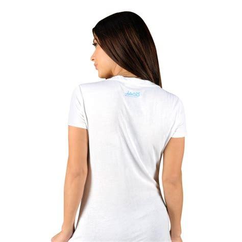 Tshirt Jaco Kanji Abu jaco womens kanji performance v neck t shirt white
