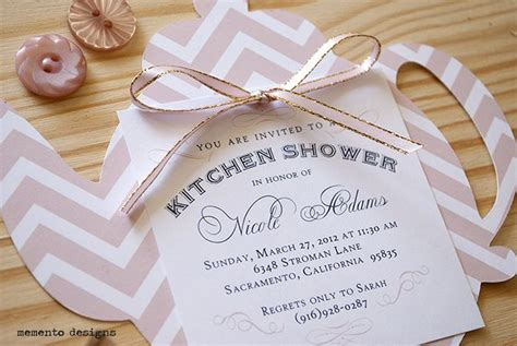 kitchen tea party invitation ideas bridal shower paper goods a collection of ideas to try