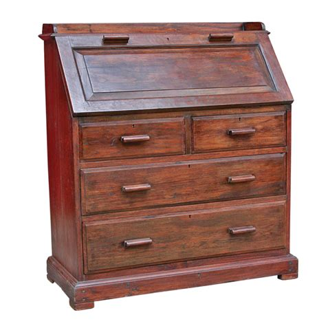 secretary desk with drawers colonial burmese teak drop lid secretary desk with chest
