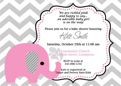 baby shower memory template how to create elephant baby shower invitations templates anouk invitations