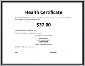 health certificate template microsoft word templates