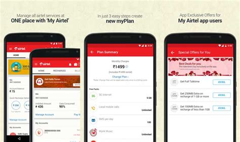 www airtel in my account section airtel launches updates myairtel app with airtel apps section
