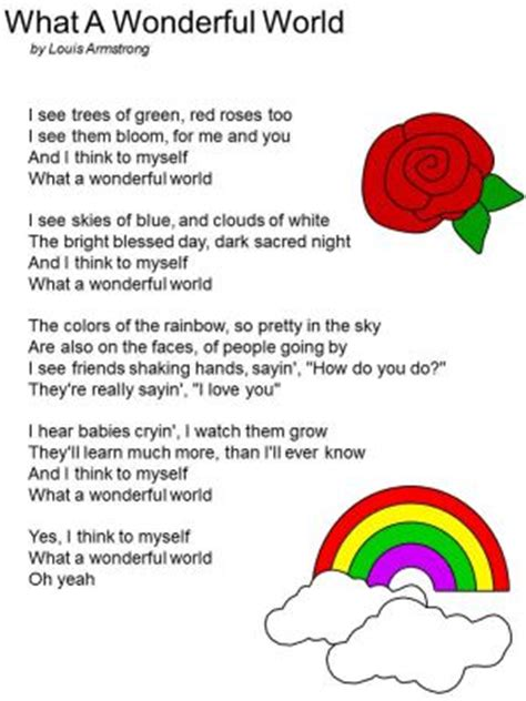 printable lyrics to it s a small world free printable lyrics to quot what a wonderful world quot by louis