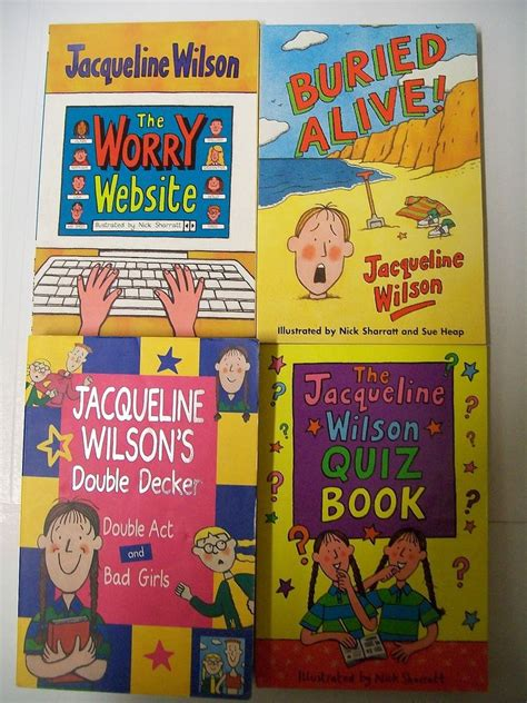 4 jacqueline wilson books quiz book buried alive worry
