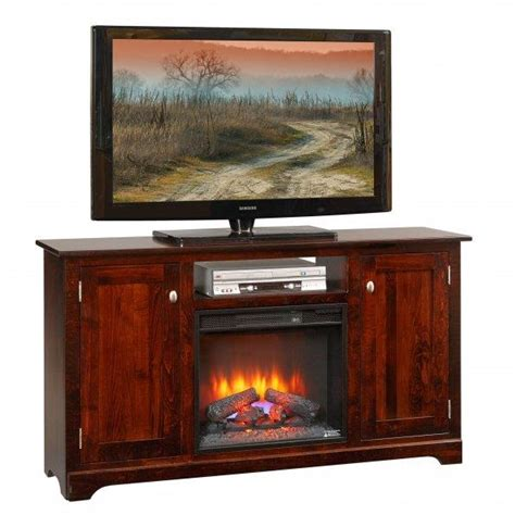 Amish Fireplace Tv Stand amish latimer 61 quot electric fireplace tv stand