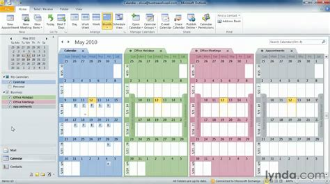 2 Calendars In Outlook 2010 Outlook Tutorial How To Work With Calendars