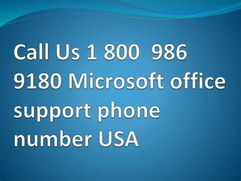 call us 1 800 986 9180 microsoft office support phone