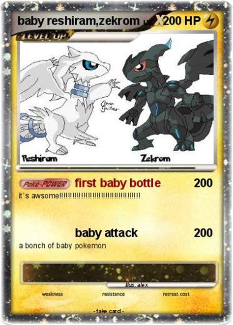 baby reshiram and zekrom pok 233 mon baby reshiram zekrom 1 1 baby bottle my