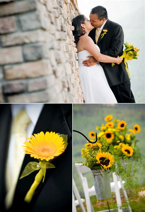 international fashion sunflower themed wedding