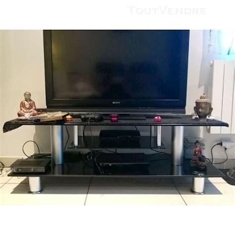 finest conforama meuble tv verre noir with console fer