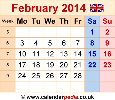 february 2014 calendar template calendar february 2014 uk bank holidays excel pdf word