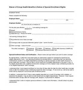 insurance waiver template 15 sle waiver forms sle forms