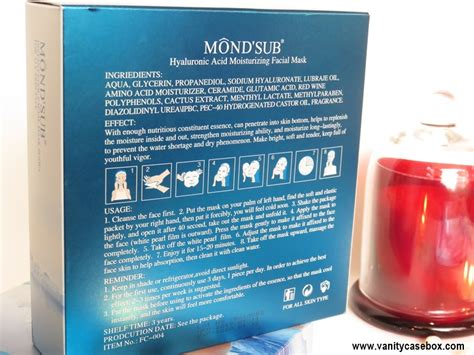 Mondsub Cooling Mask mond sub hyaluronic acid moisturizing sheet review
