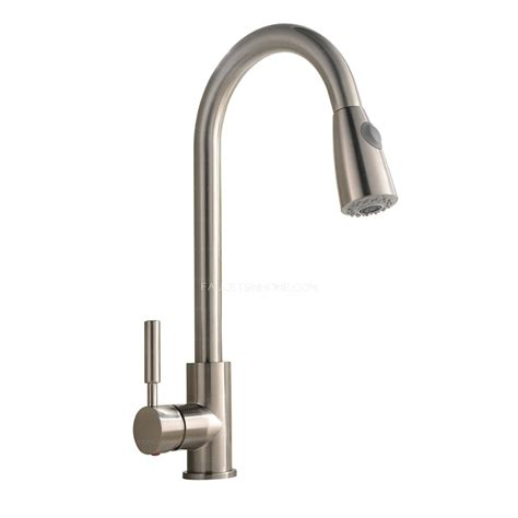 commercial kitchen faucet sprayer brushed nickel rotatable brass pull commercial