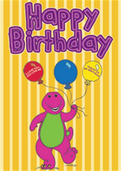 Printable Barney Birthday Cards barney the dinosaur birthday card