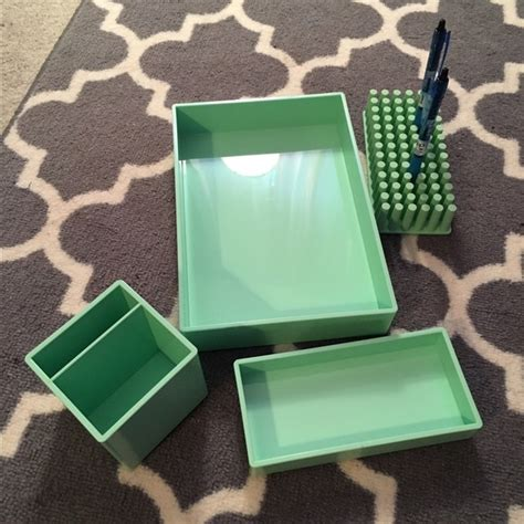 Green Desk Accessories Sets by 67 Accessories Beautiful Mint Green Desk Set From