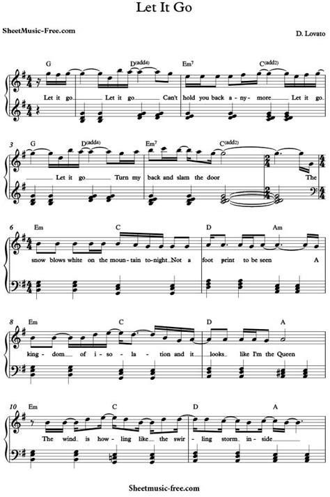 let it go demi lovato let it go let it go sheet music demi lovato sheet music free