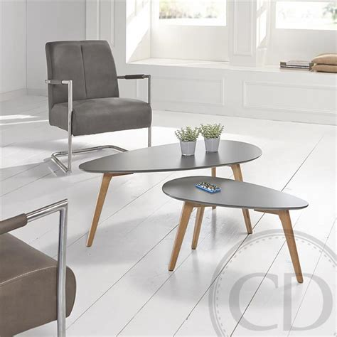 Table basse scandinave petite grise   Bajo sur CDC Design