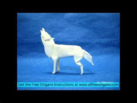 How To Make A Paper Wolf - how to make an origami wolf