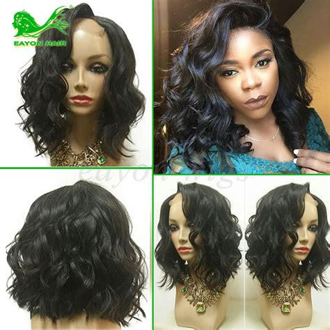 short hairstyles using body wave human hair full lace human hair wigs for black women short cut bob