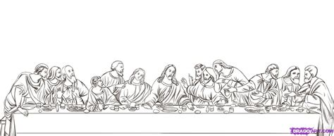 How To Draw The Last Supper Step By Step Art Pop Da Vinci Printable Coloring
