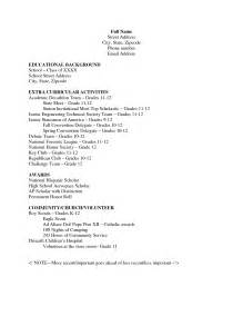 high school resume template berathen