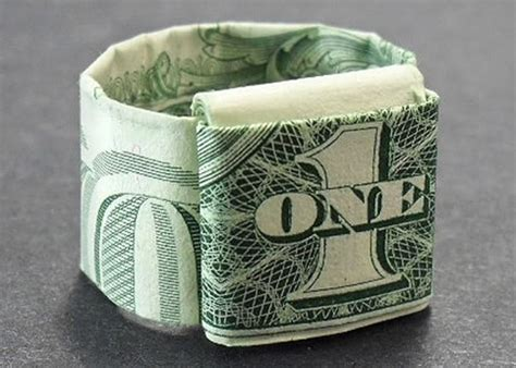 How To Make A Origami Dollar Ring - dollar ring origami wacky wednesday ideas