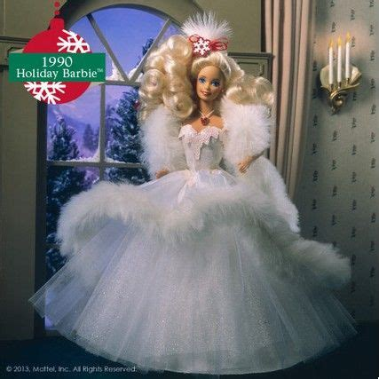 1990 holiday barbie barbie