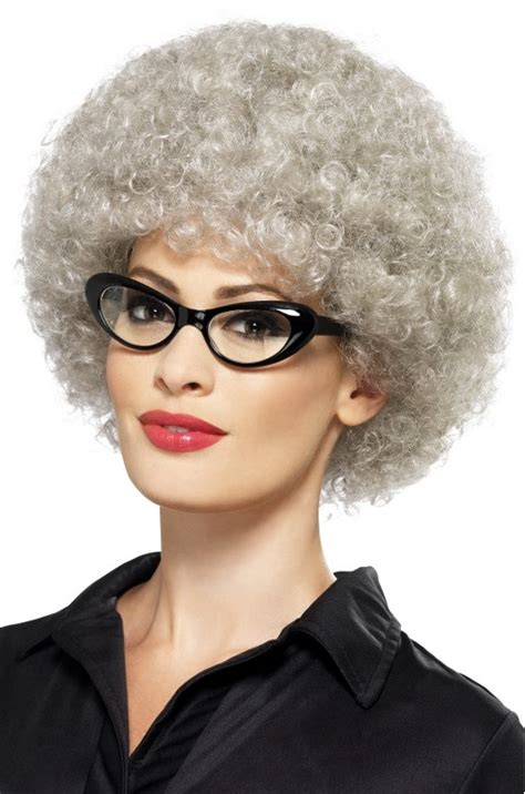 funny pictures of ladies with perms adult gray granny perm wig old lady costumes funny costumes