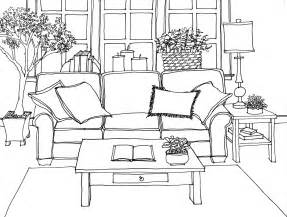 Interior Drawing hand rendering interiors drawing hand