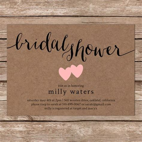 A List Of Fun Bridal Shower Ideas To Get You Inspired Everafterguide Free Printable Rustic Bridal Shower Invitation Templates