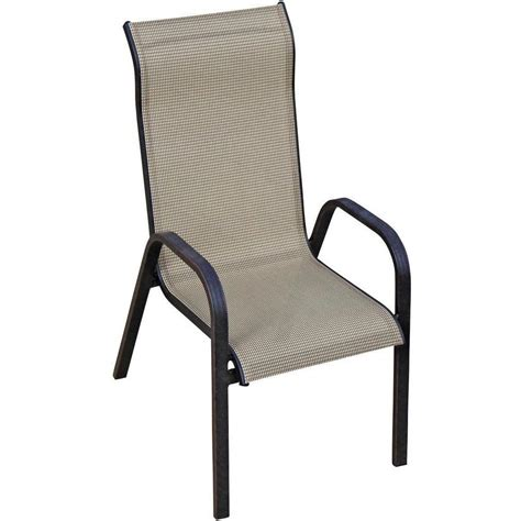 Madison Bay Sling Stacking Patio Dining Chair By Lakeview