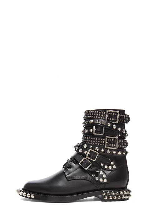 studded boots laurent rangers studded leather combat boots