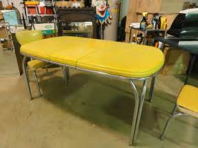 1950 Kitchen Furniture by 1950 S Dinette Set Retro Vintage Kitchen Chrome Yellow
