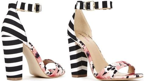 black and white patterned heels black and white striped heels