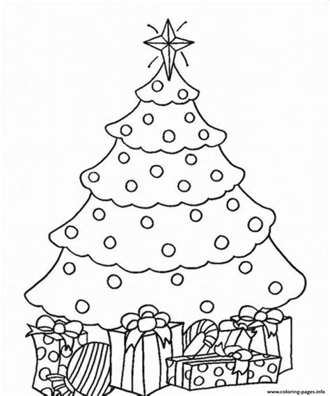 tree to color tree and present coloring pages printable