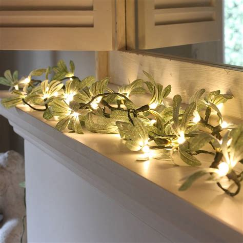 mistletoe fairy lights by little red heart