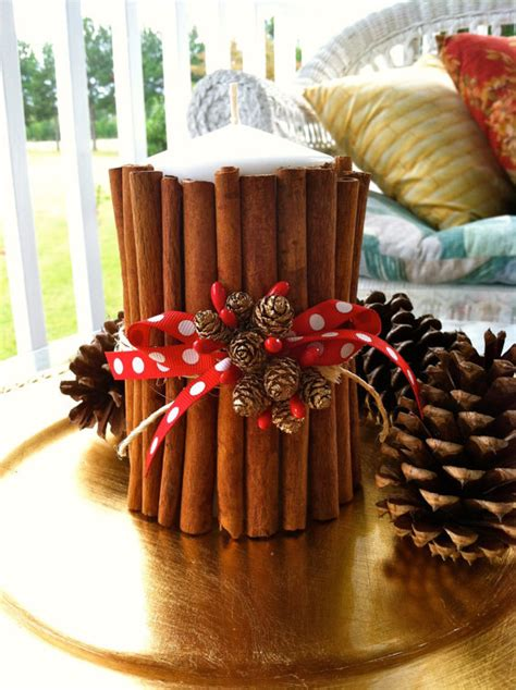 christmas decorations black friday black friday fresh cinnamon stick candle decor centerpiece