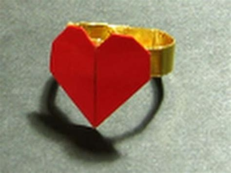 Valentine Origami Tutorial Lovers Ring | valentine s origami tutorial lovers ring francis ow