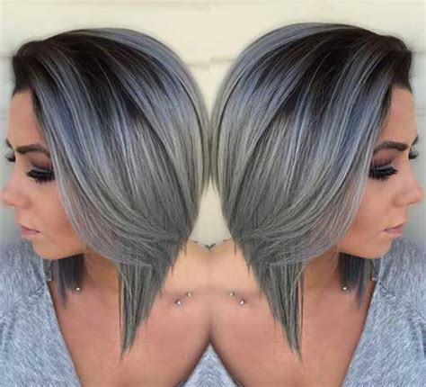pictures of womens short dark hair with grey streaks short grey hair pics short hairstyles 2017 2018 most
