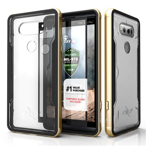 Aluminium Metal Bumper With Brushed Cover Lg V20 for lg v20 zizo shock aluminum metal bumper armor shockproof cover ebay