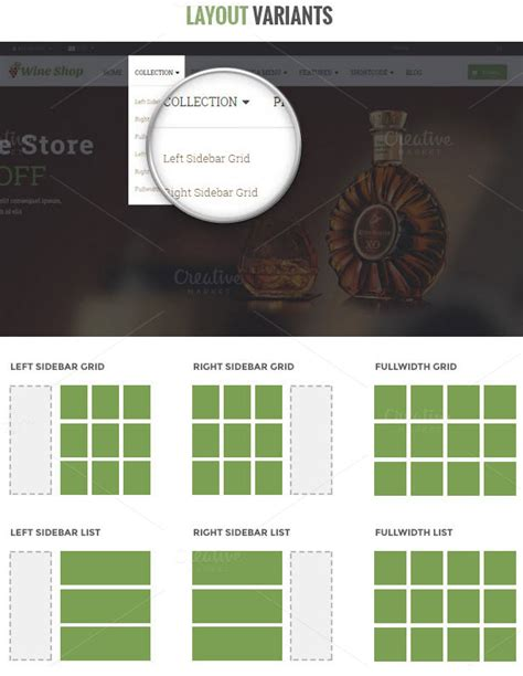 shopify themes wine ap wine shopify themes website templates on creative market