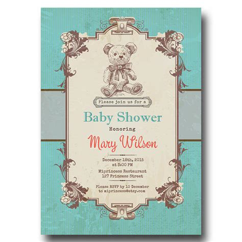 Vintage Invitations Baby Shower by Vintage Baby Shower Invitation Baby From Miprincess